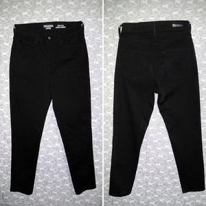 Levi's Denizen- High Rise Black Ankle Skinny Jeans